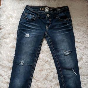 Hydraulic skinny jeans